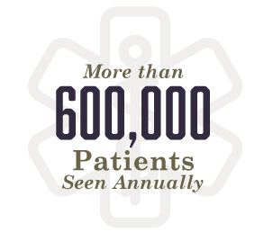 600,000 Patients Seen Annually